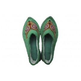 green-felt-slippers
