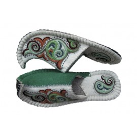 half-green-white-slippers (unisex)