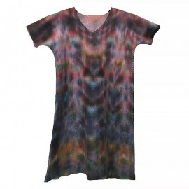 rainbow-v-neck-dress