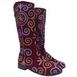 red-hard-velvet-boots